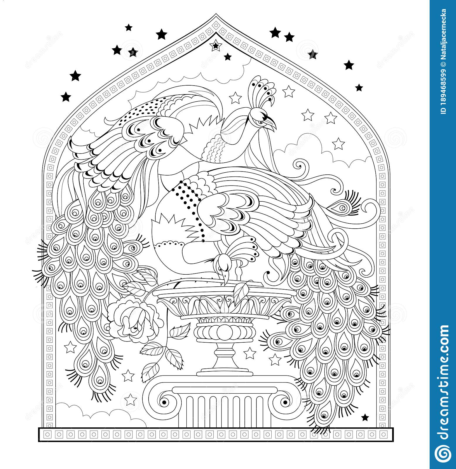 Page For Coloring Book Illustration Of Couple Beautiful