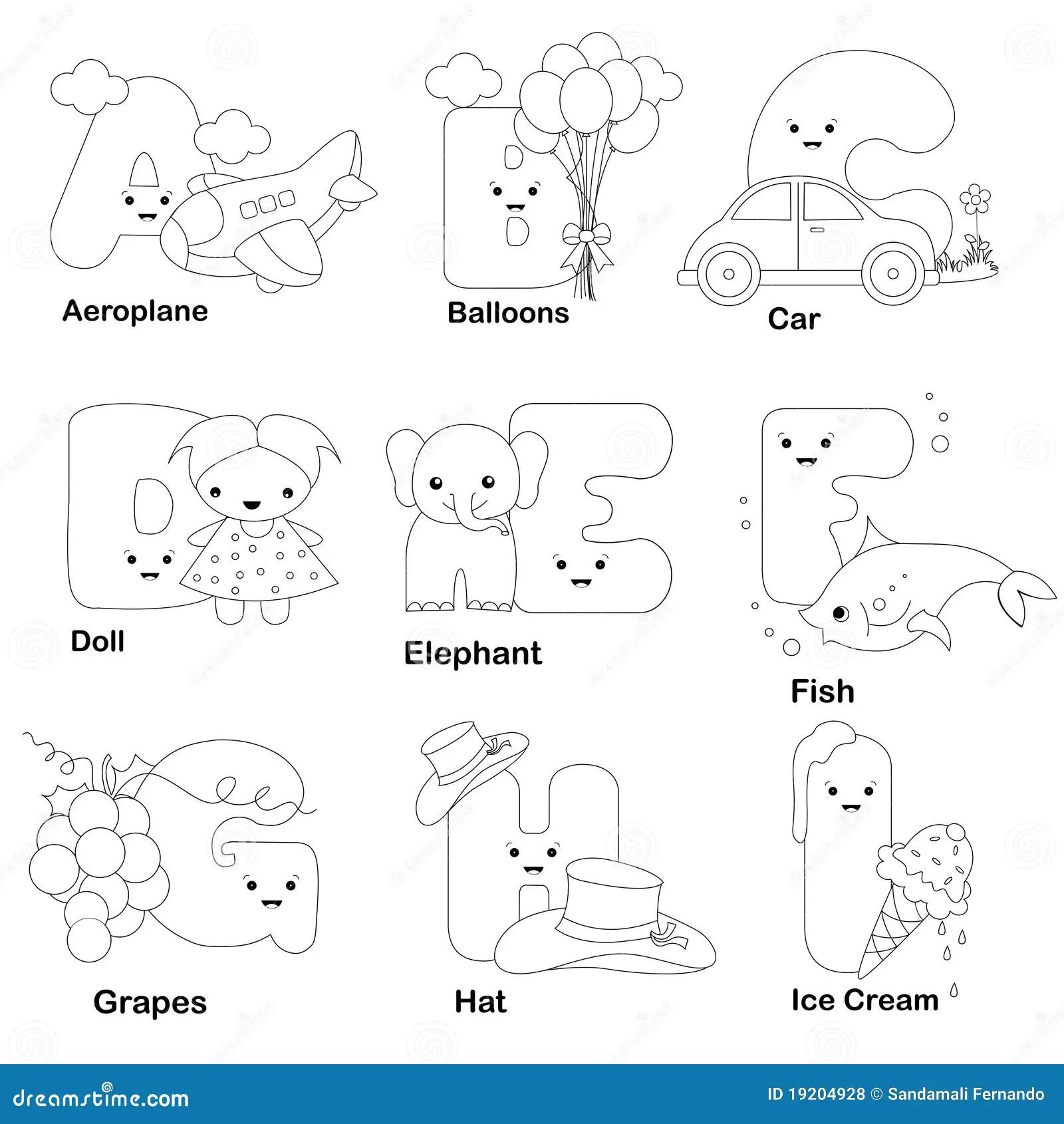 Page De Coloration D Alphabet Illustration De Vecteur
