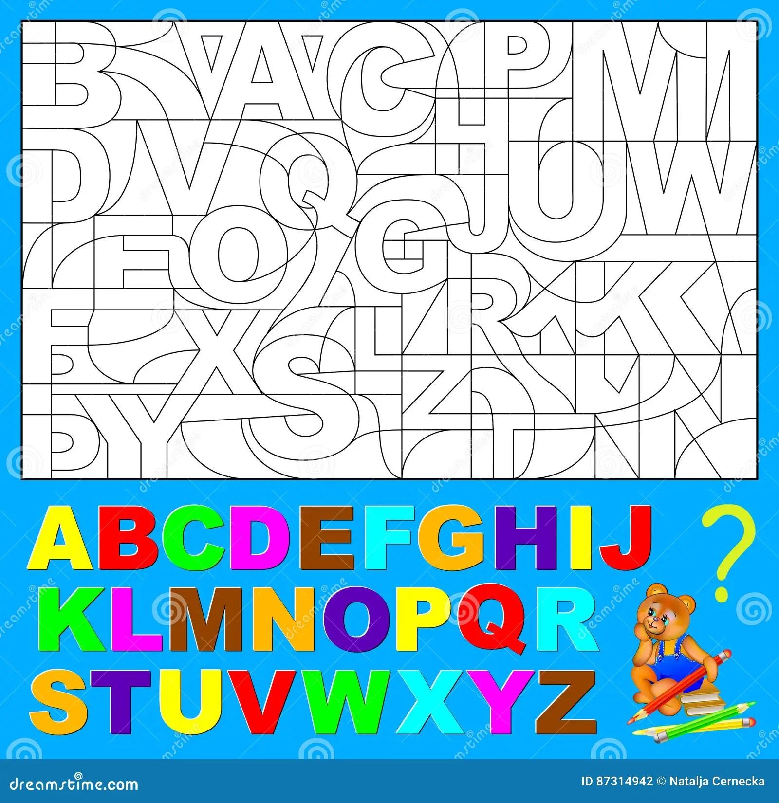 Pagina Educativa Per I Bambini Piccoli Debba Trovare Le