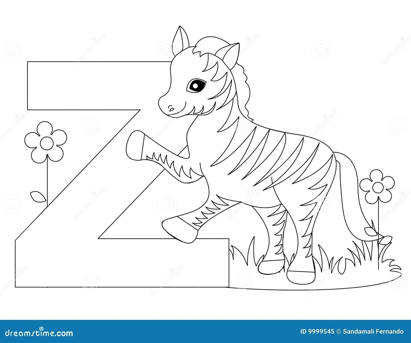 Paginacion Animal Del Colorante Del Alfabeto Z