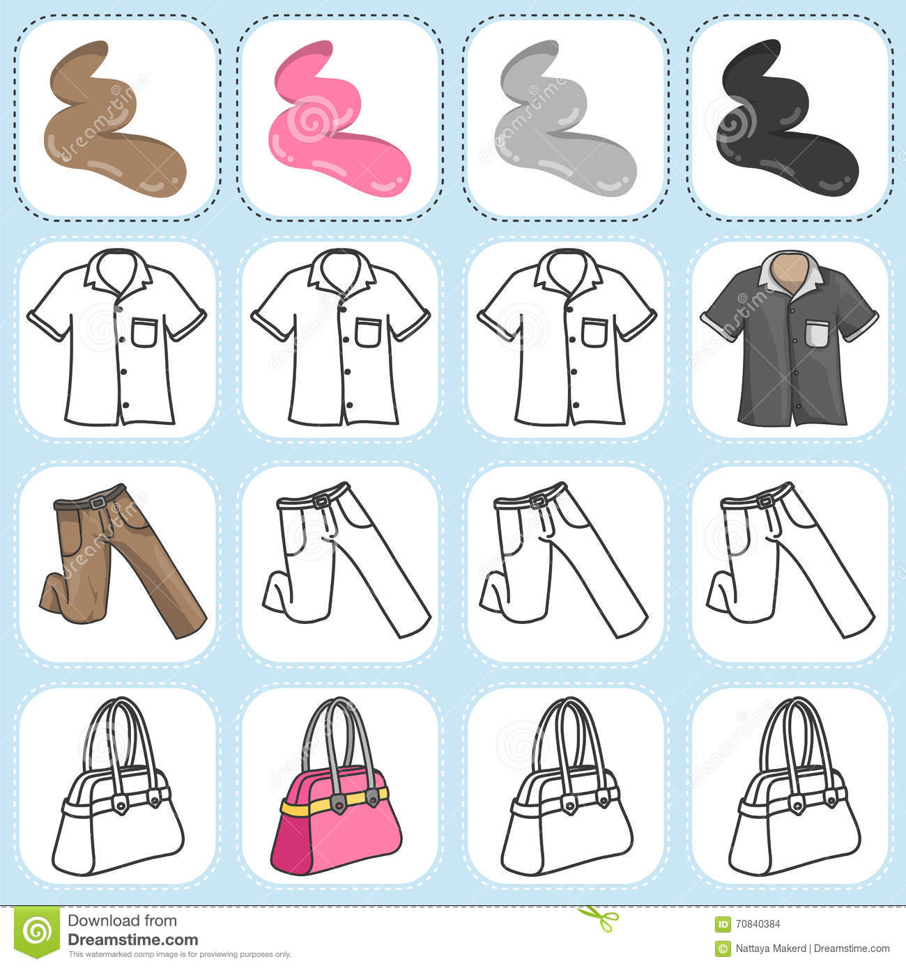 Paint The Clothing As Assigned Stock Vector
