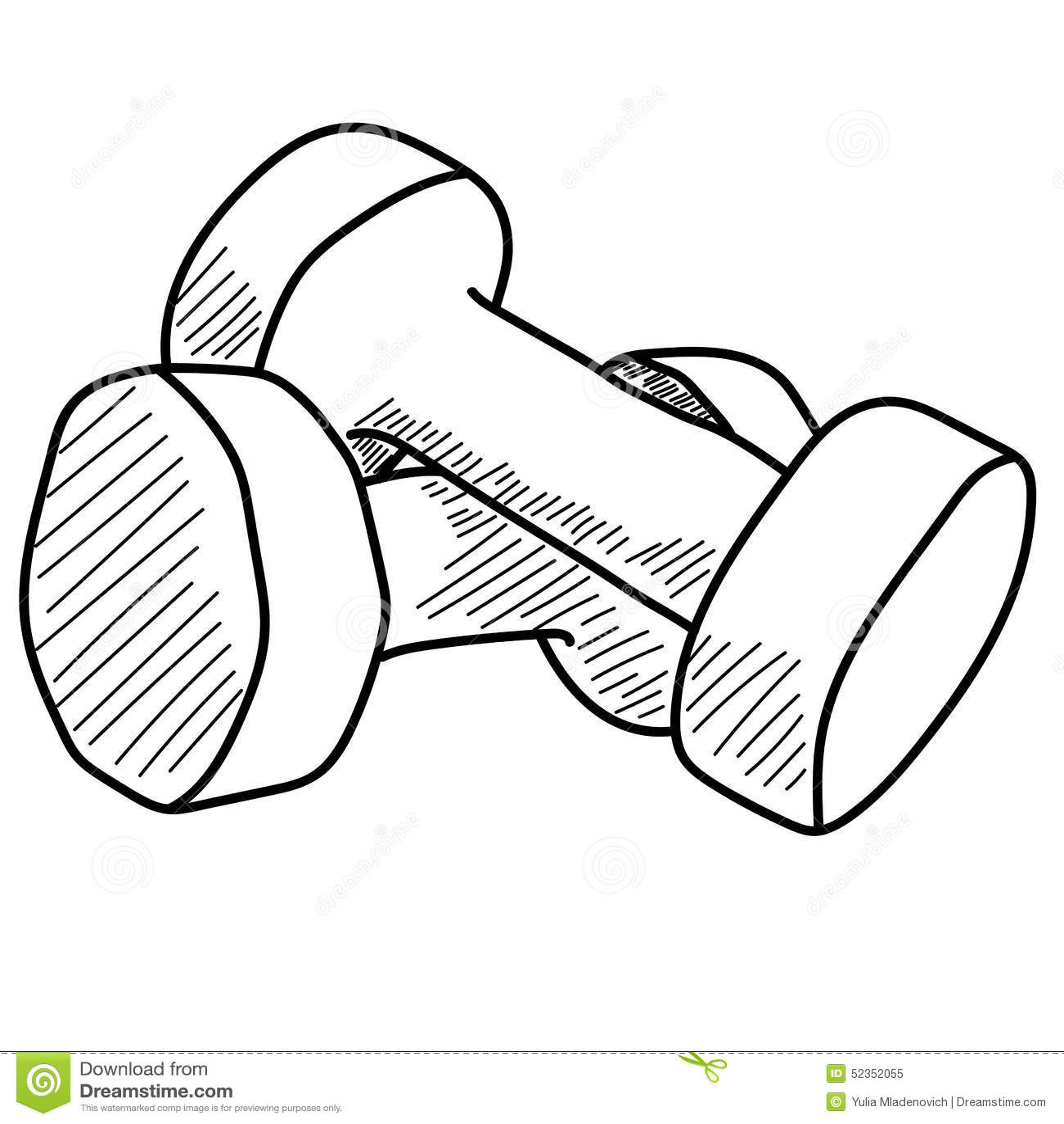 Pair Of Dumbbells Stock Vector Illustration Of Supply