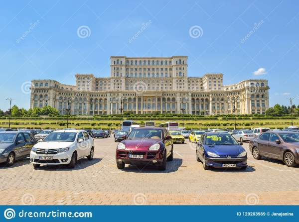 Palace Of Parliament. Bucharest. Romania. Editorial Stock ...