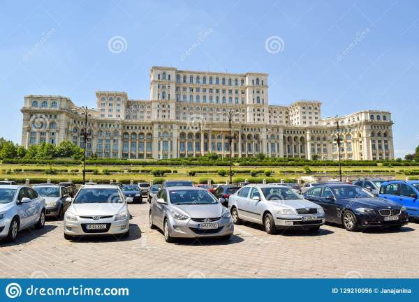 Palace Of Parliament. Bucharest. Romania. Editorial Photo ...