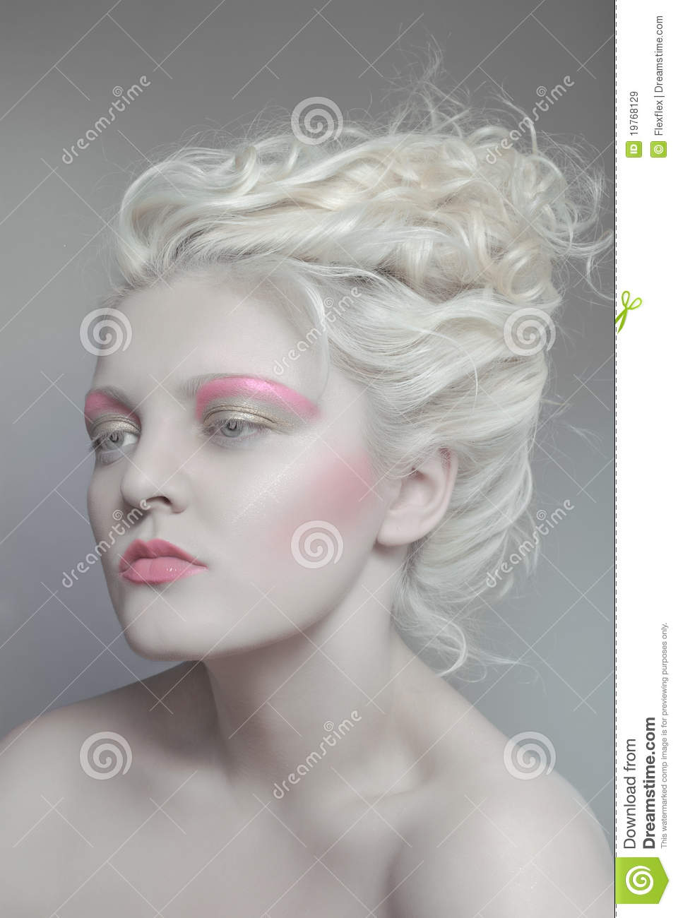 Pale Beauty Portrait Of Blond Woman Stock Image Image