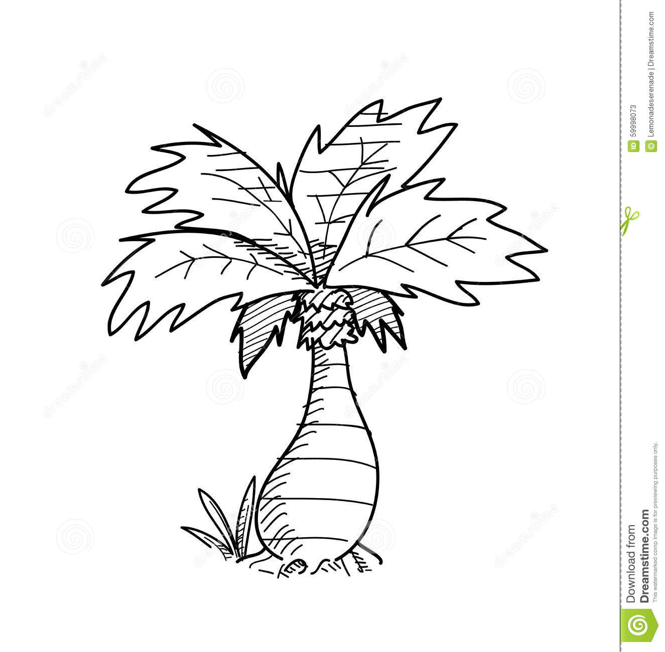 Palm Tree Doodle Stock Vector