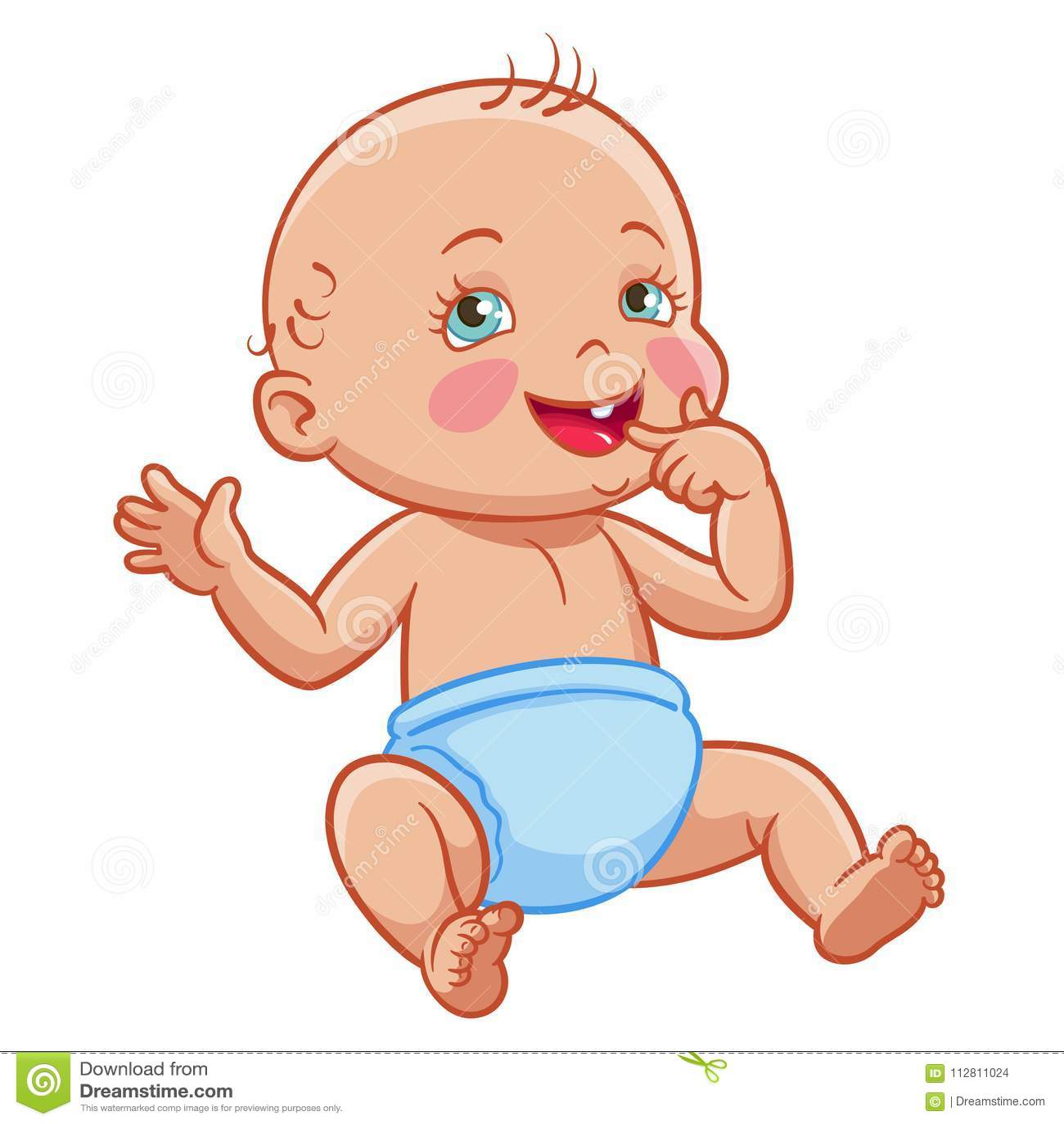 Pannolino Sorridente Di Fare Da Baby Sitter Infantile Del
