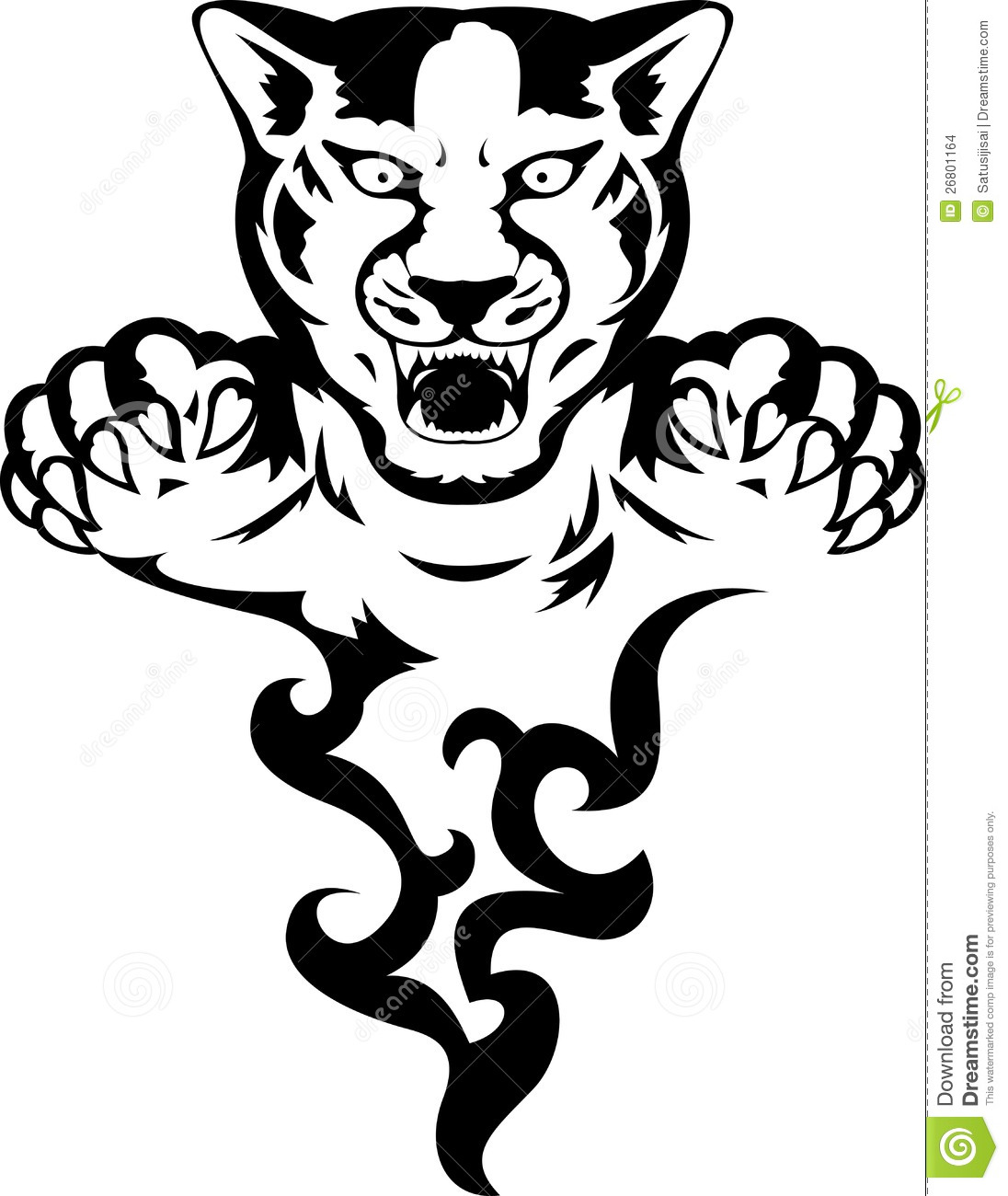 Panther With Flame Stock Illustration Illustration Of