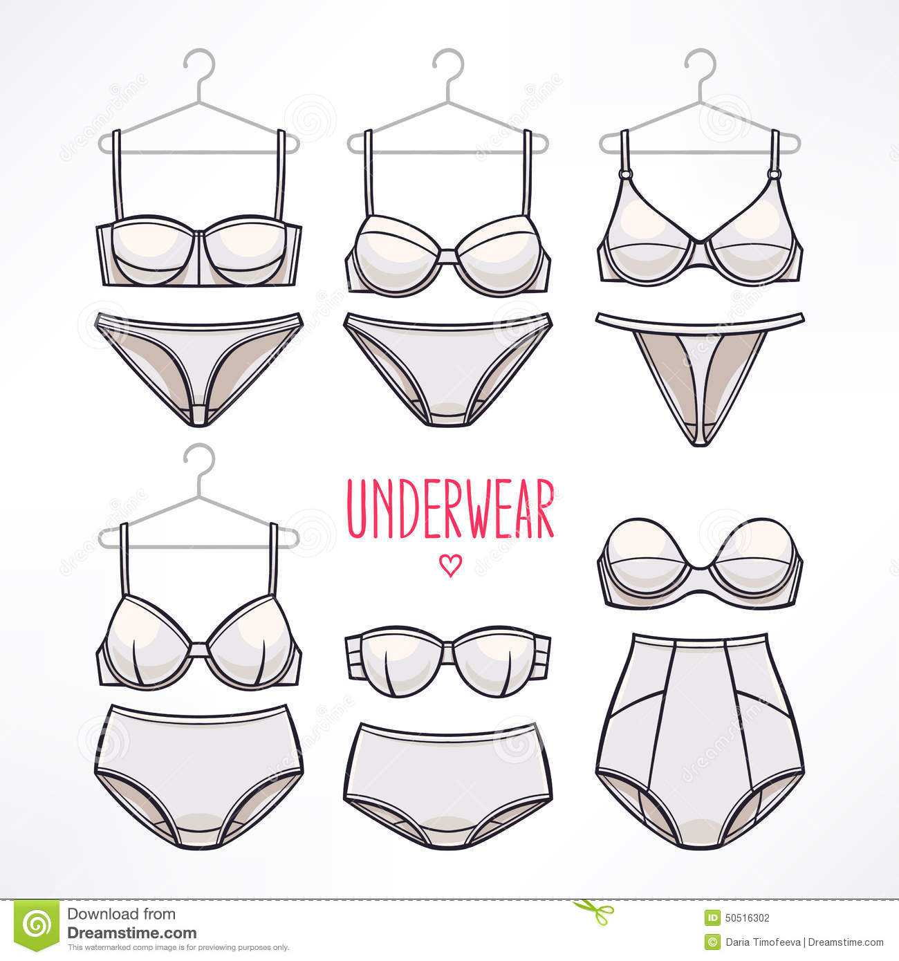 Panties And Bras Stock Vector Illustration Of Lingerie