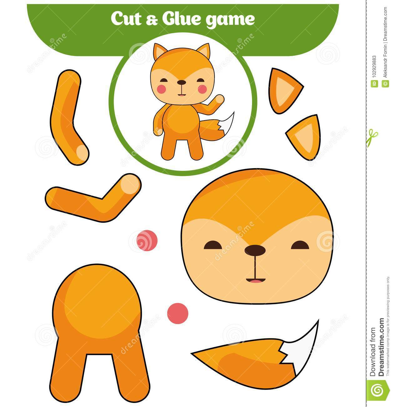 Paper Game For The Development Of Preschool Children Cut
