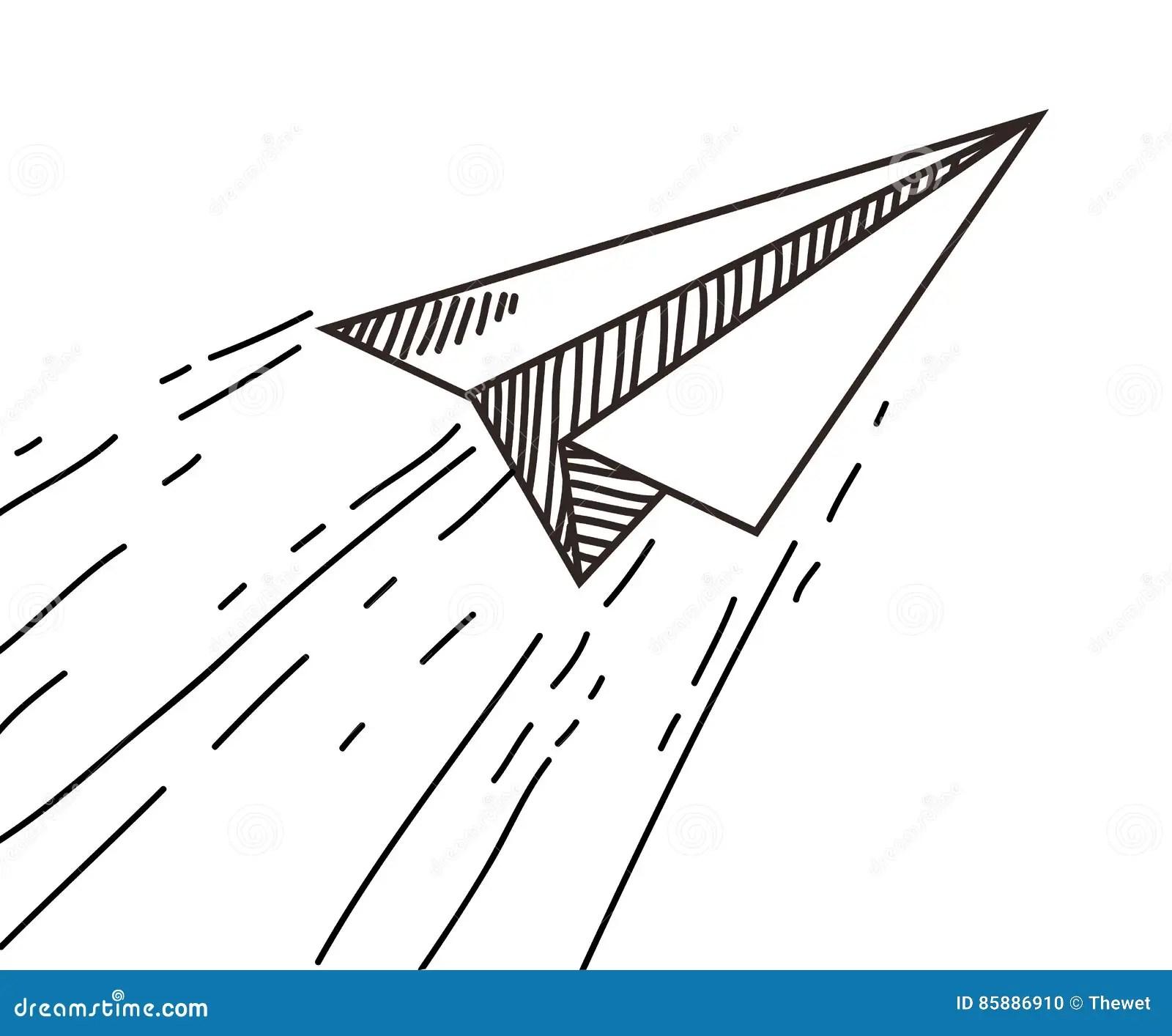 Paper Plane Drawing Stock Illustration Illustration Of