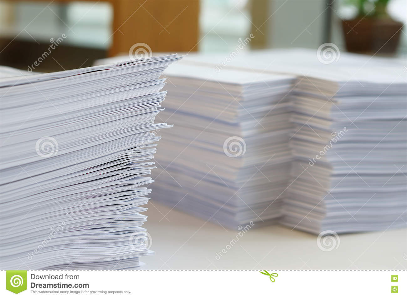 Papers Worksheet At Office Stock Photo Image Of Paperwork