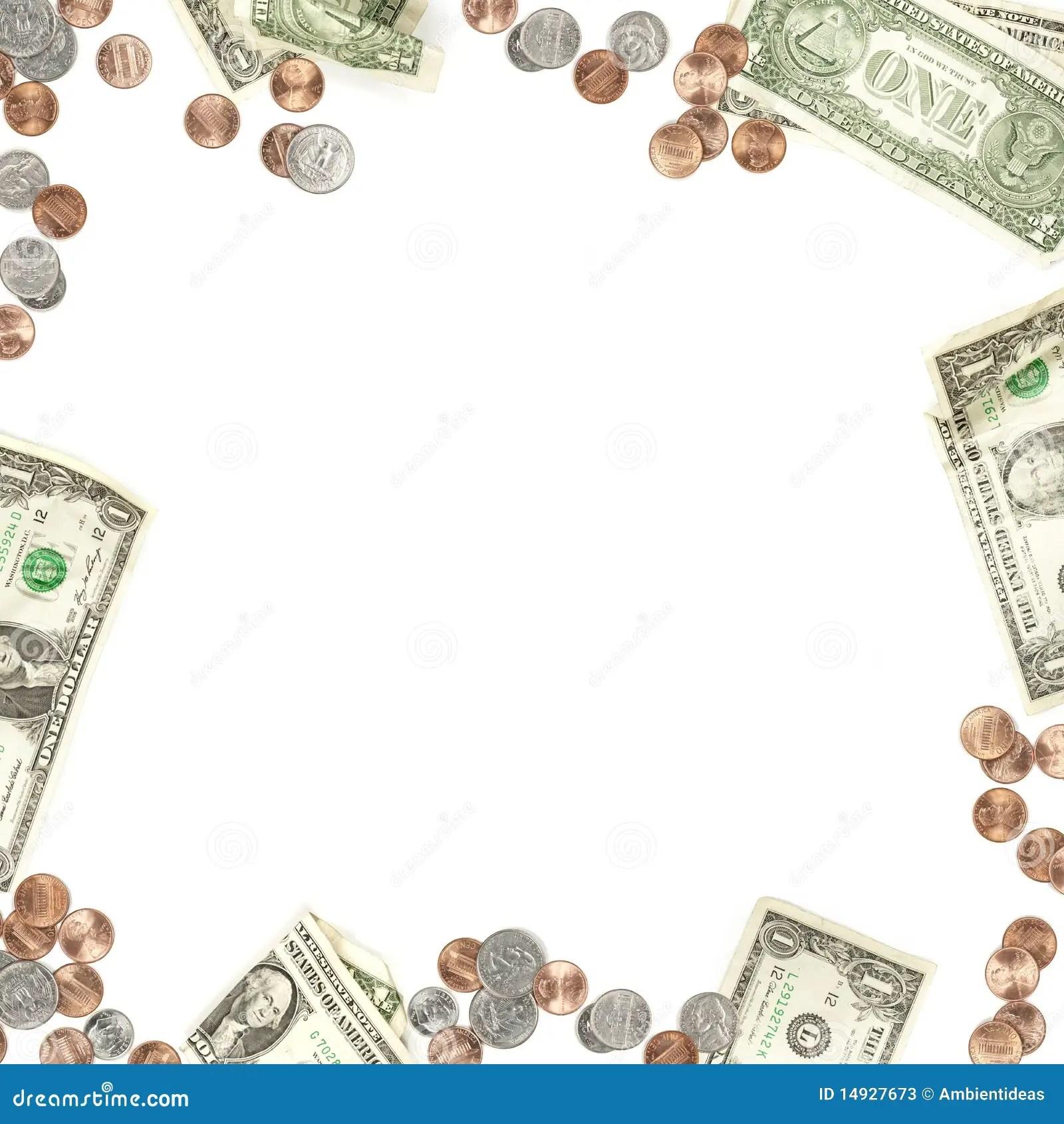 Papier D Argent Et Cadre De Devise De Piece De Monnaie