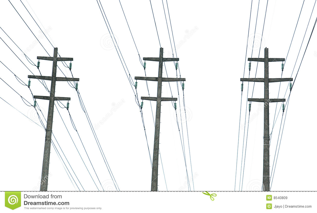 Parallel Power Transmission Lines Royalty Free Stock