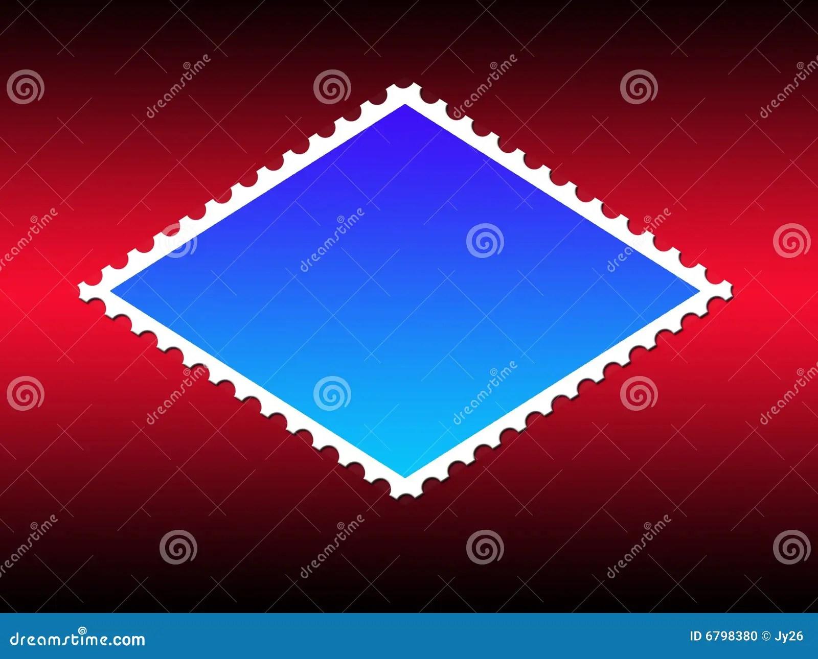 Parallelogram Shape Stamp Frame Stock Illustration