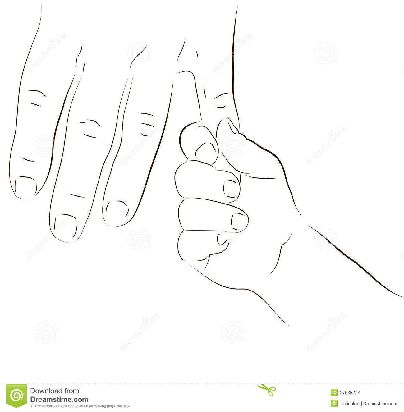 Parent And Baby Hand Stock Illustration Image Of Drop