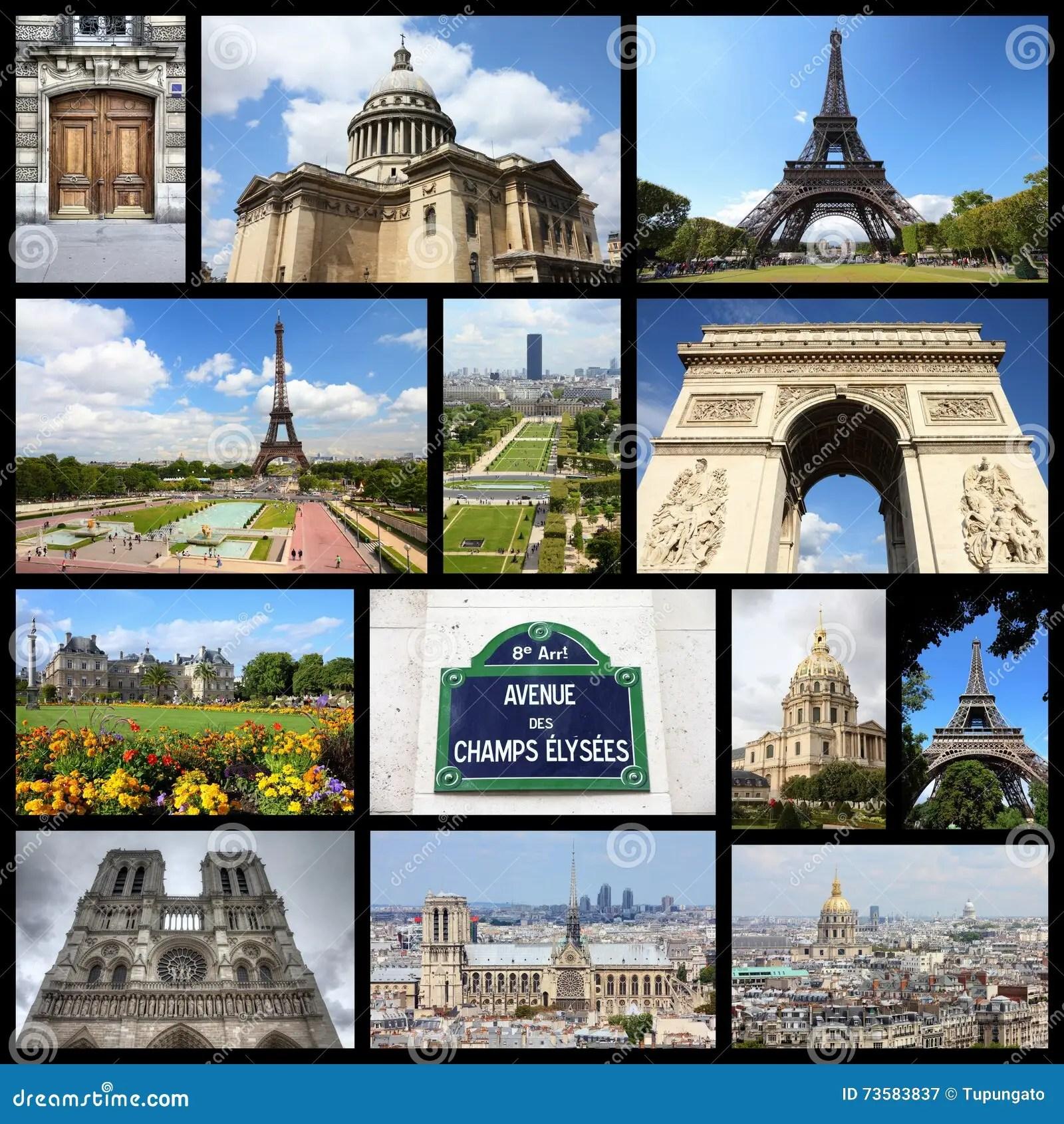 Paris Collage Stock Image Image Of Dame Image