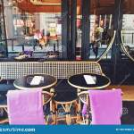 Parisian Cafe And Restaurant On Central Street Of Paris France Editorial Photography Image Of Luxury Lockdown 183139682