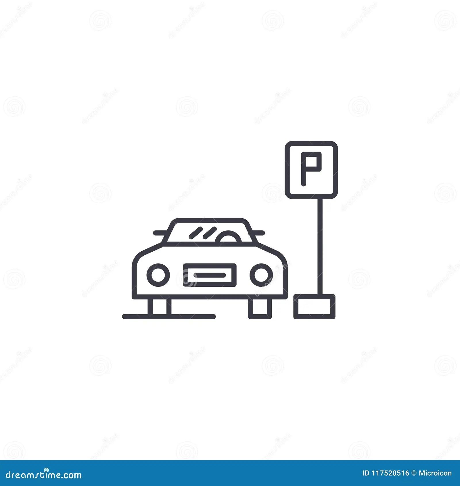 City Parking Lot Cartoon Vector