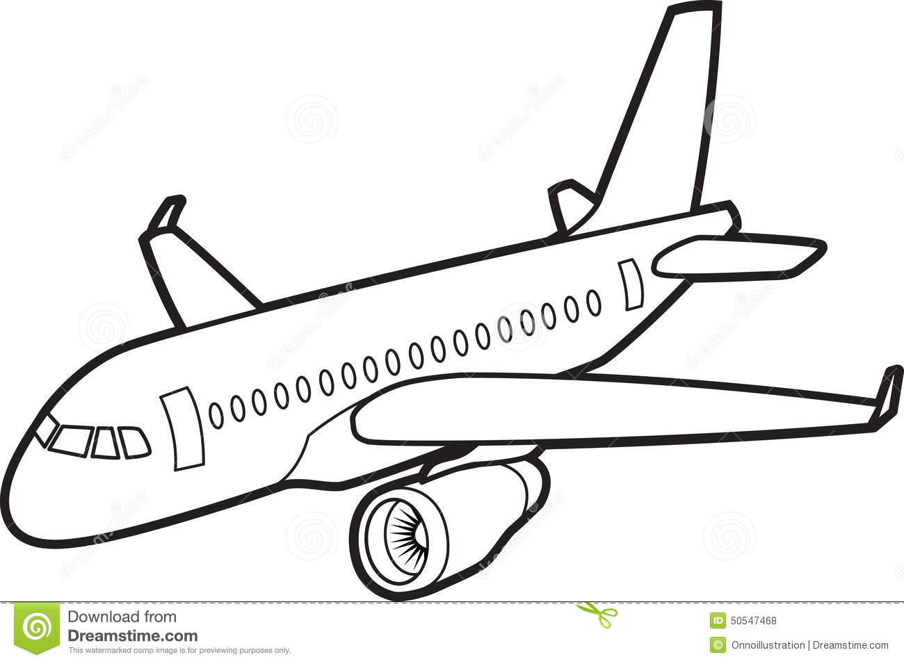 Passenger Jet Aircraft Stock Vector Illustration Of