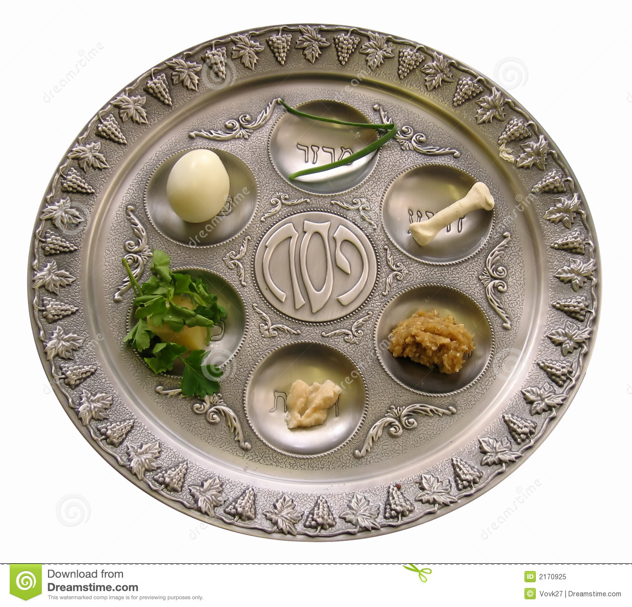Passover Seder Plate Stock Image Image Of Afikoman Plate