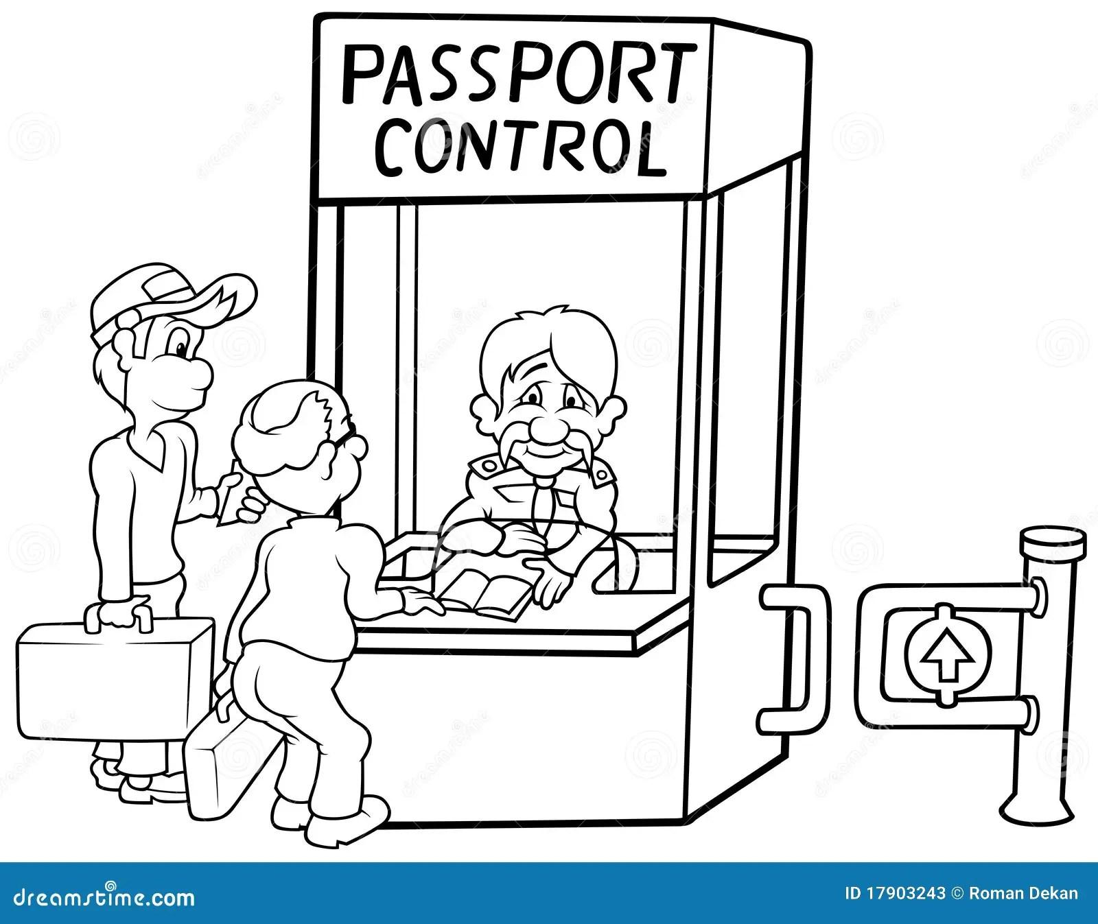 Passport Control Stock Photos