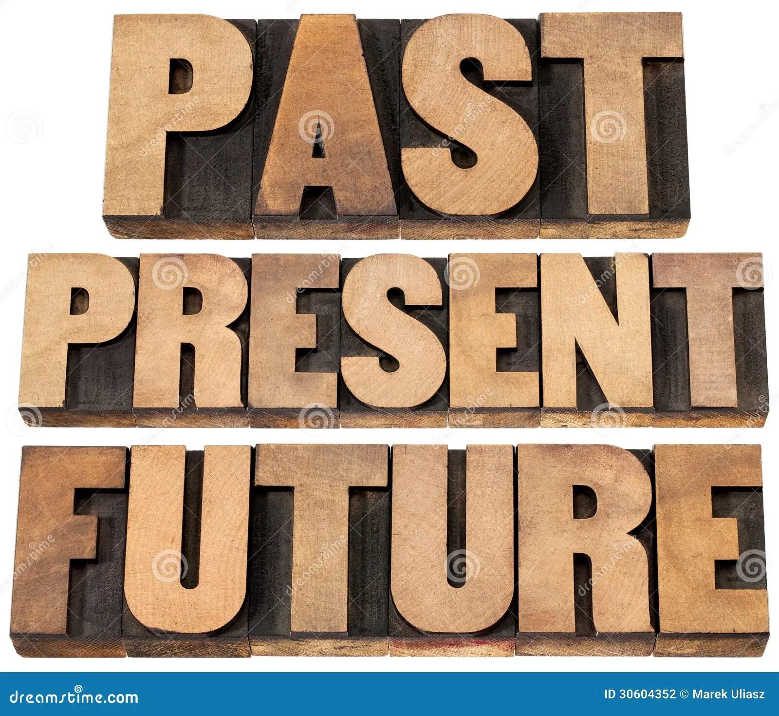 Past Present Future Stock Photography