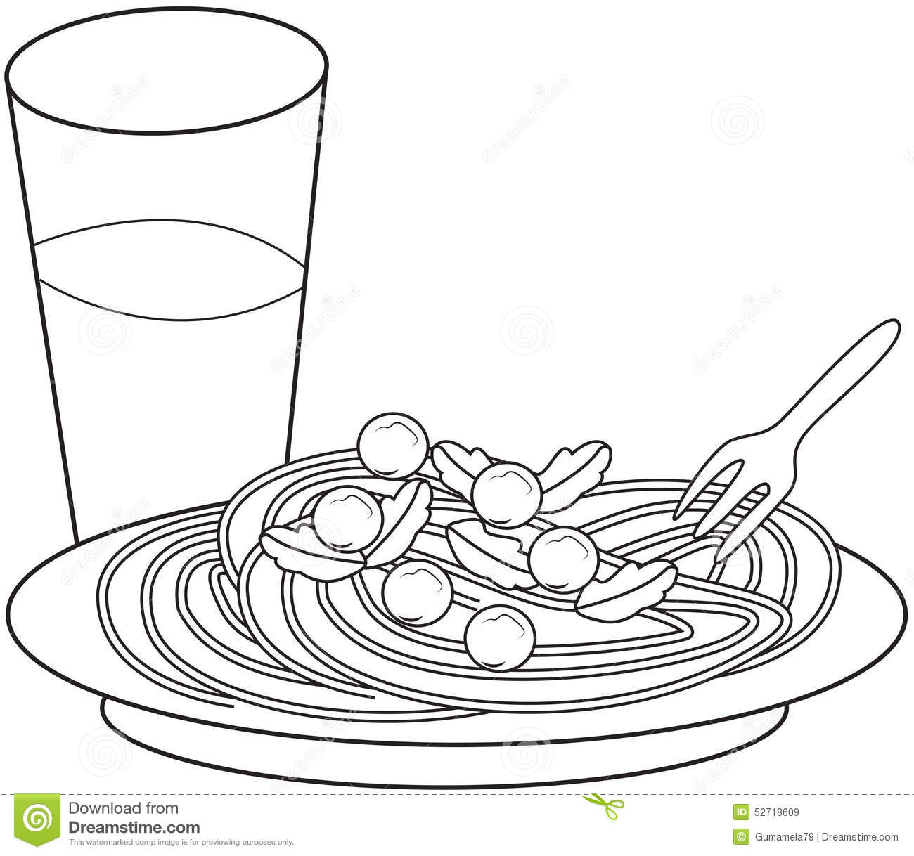 Pasta Food Coloring Pages Pictures To Pin