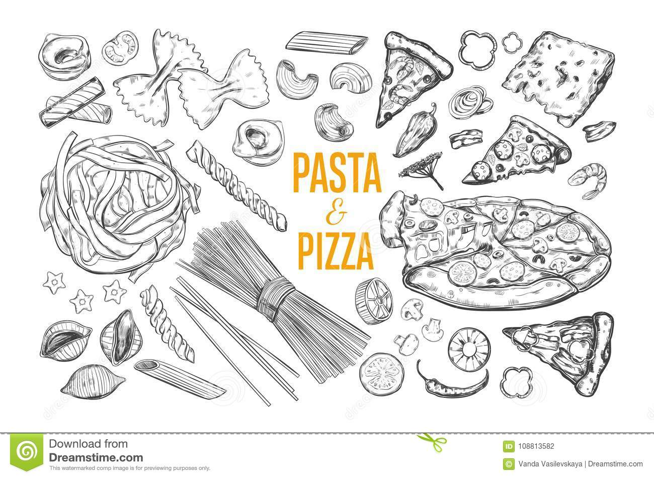 Pasta Stock Illustrations 10 982 Pasta Stock