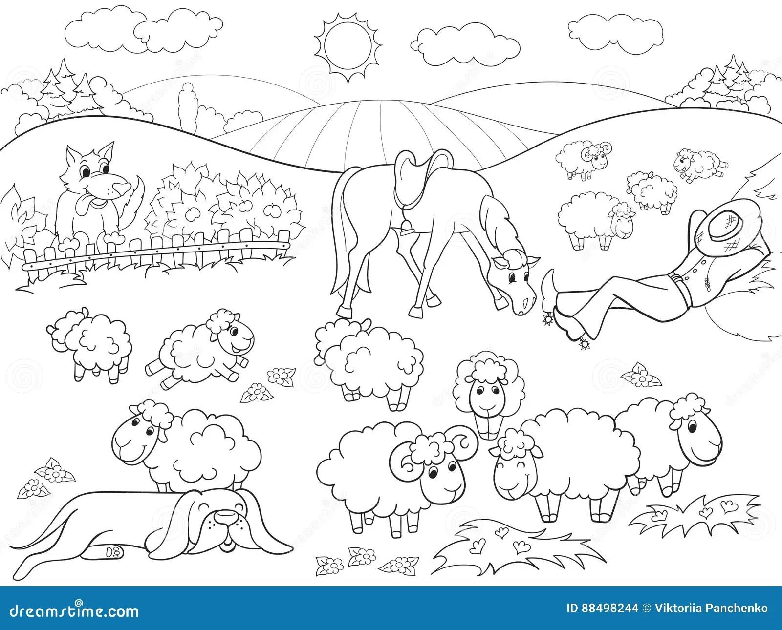 Cute Hunting Dog Illustration Cartoon Cartoon Vector