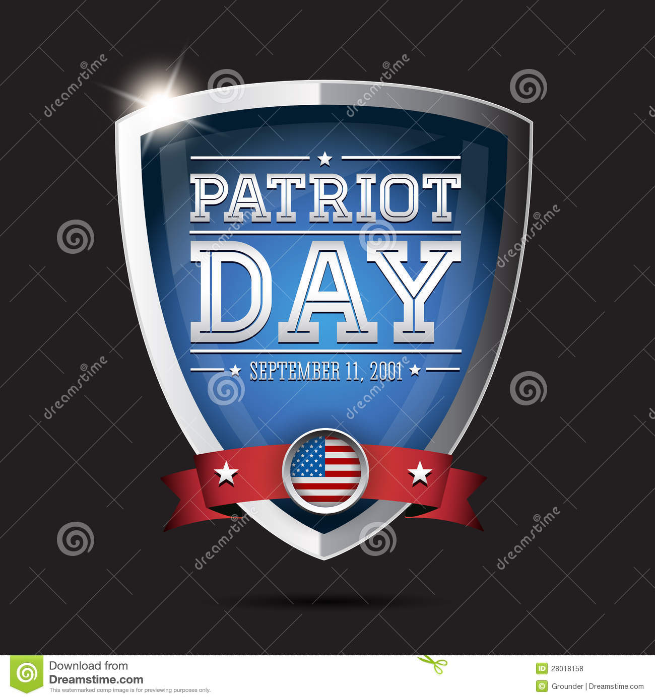 Patriot Day September 11 Stock Vector