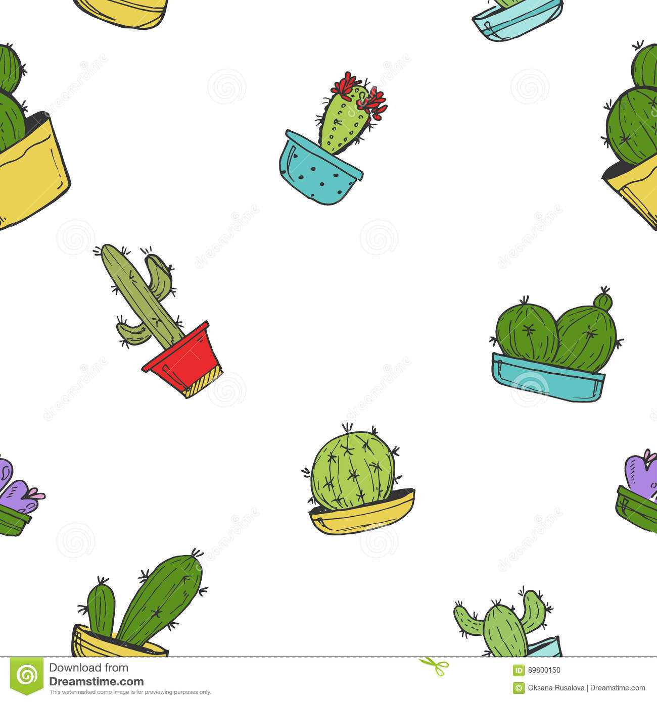 Draw So Cute Cactus Family