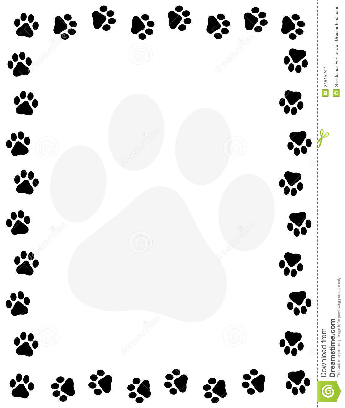 Paw Prints Border Stock Vector Image Of Clipart Graphic