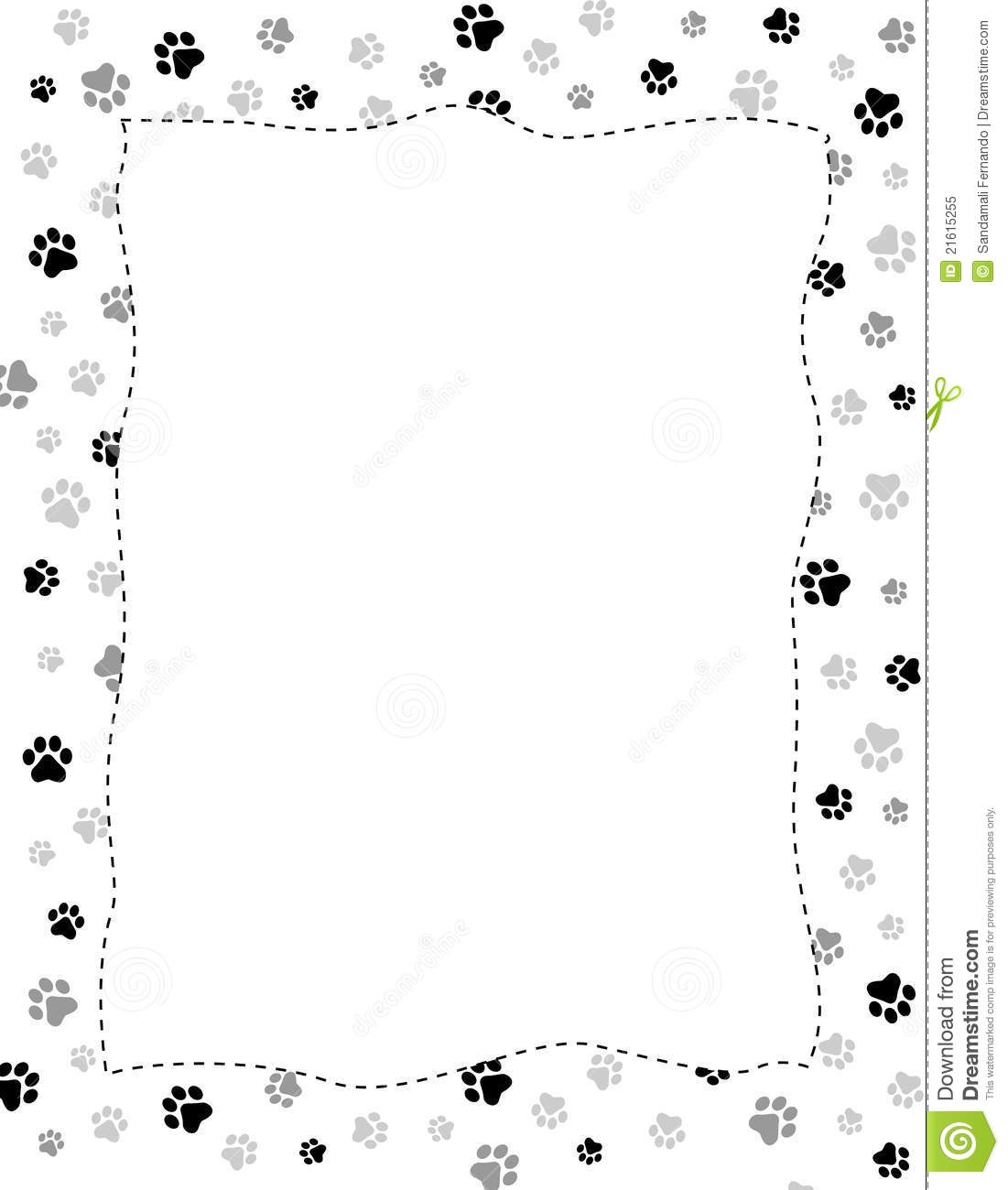 Paw Prints Border Stock Vector Illustration Of Animals