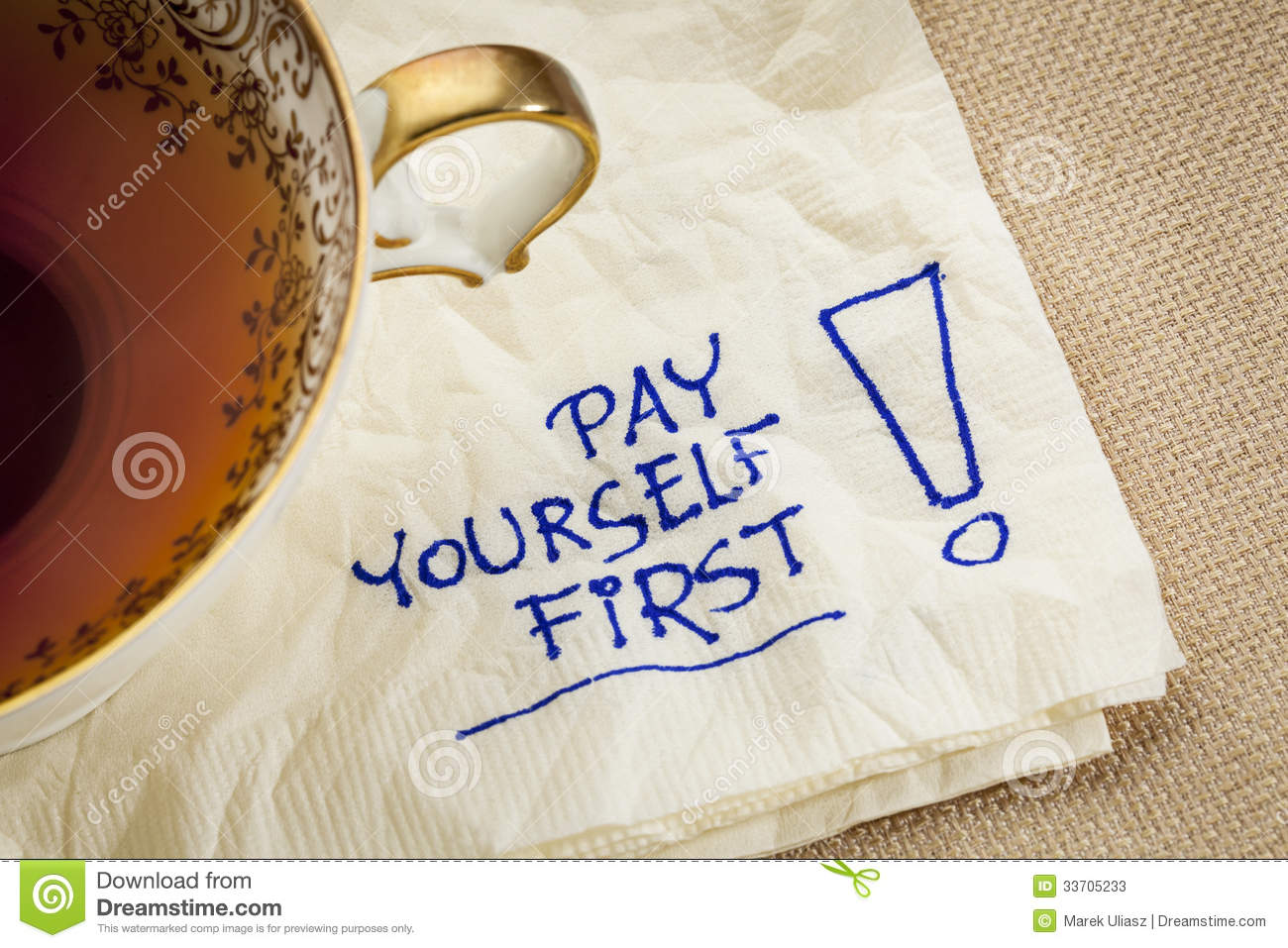 Pay Yourself First Advice Stock Image Image Of Strategy Saving 33705233