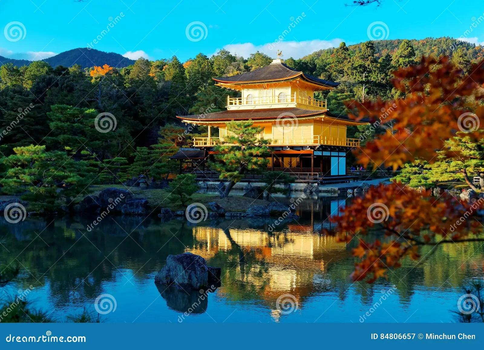 paysage de kinkaku ji un temple celebre de zen buddhist a kyoto japon image stock image du couleur culture 84806657