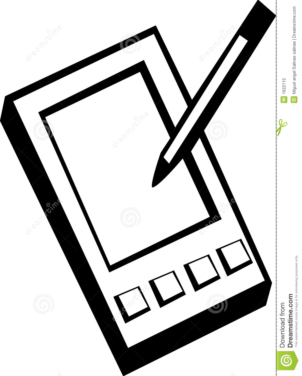 Pda Handheld Computer Vector Illustration Stock Vector