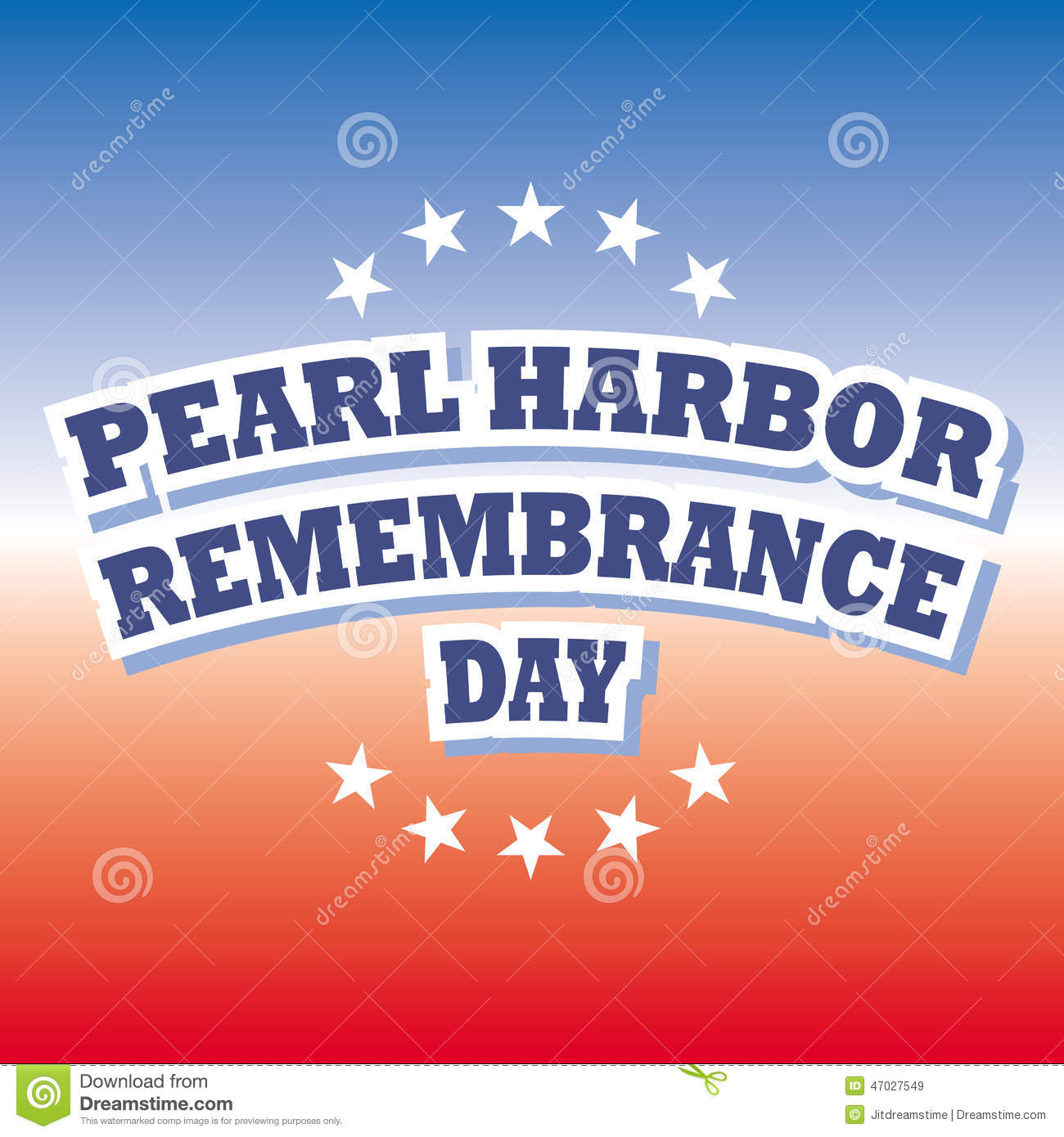 Pearl Harbor Remembrance Day Stock Vector