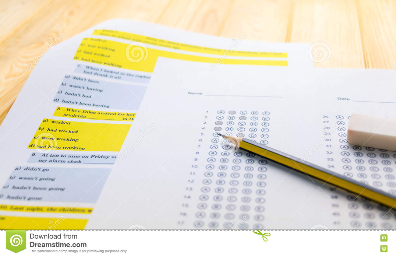 25 question blank answer sheet