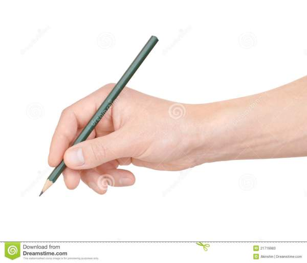 Pencil In Hand Stock Photos Image 21719983