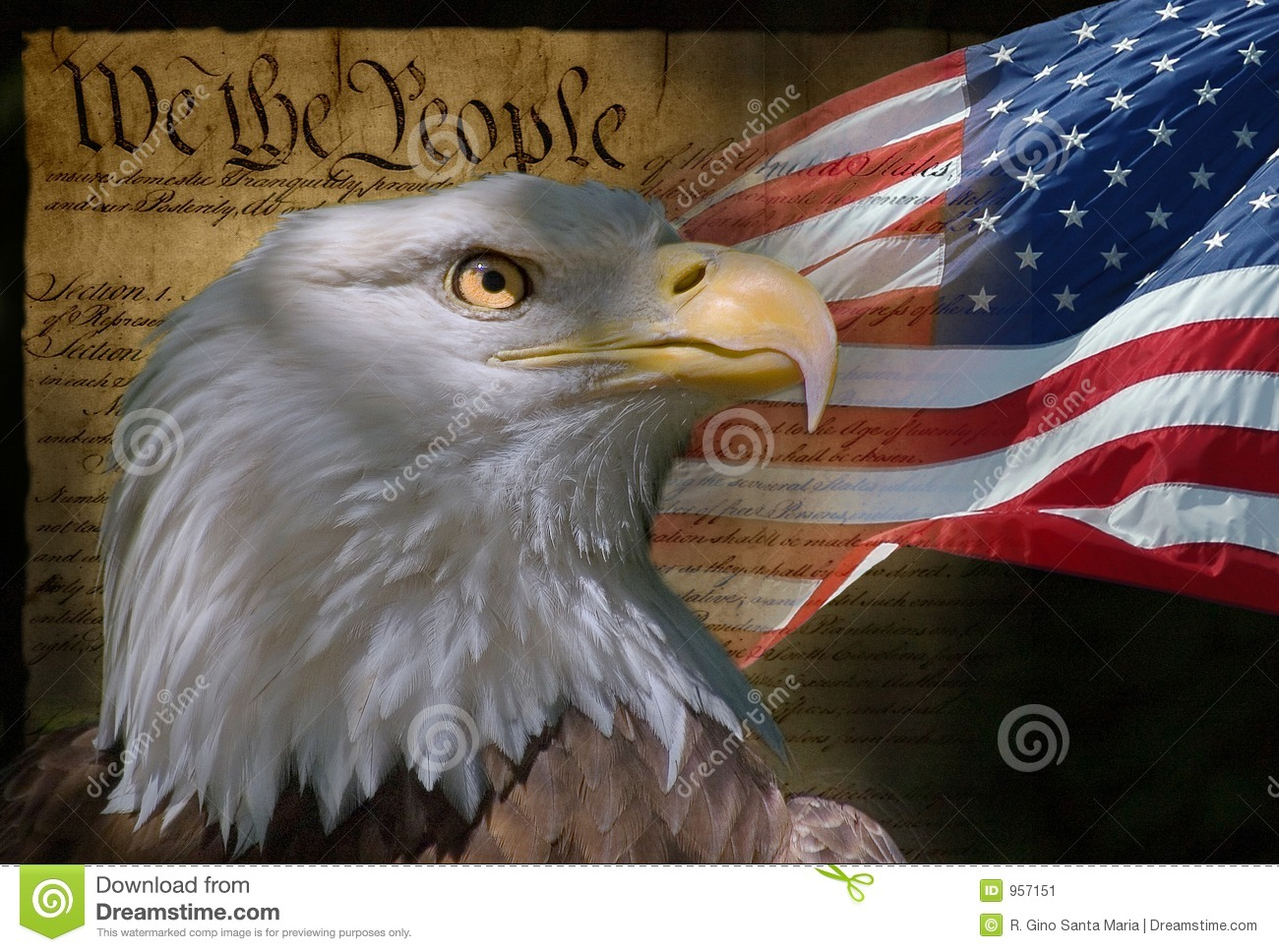 We The People Stock Image Image Of America Eagle