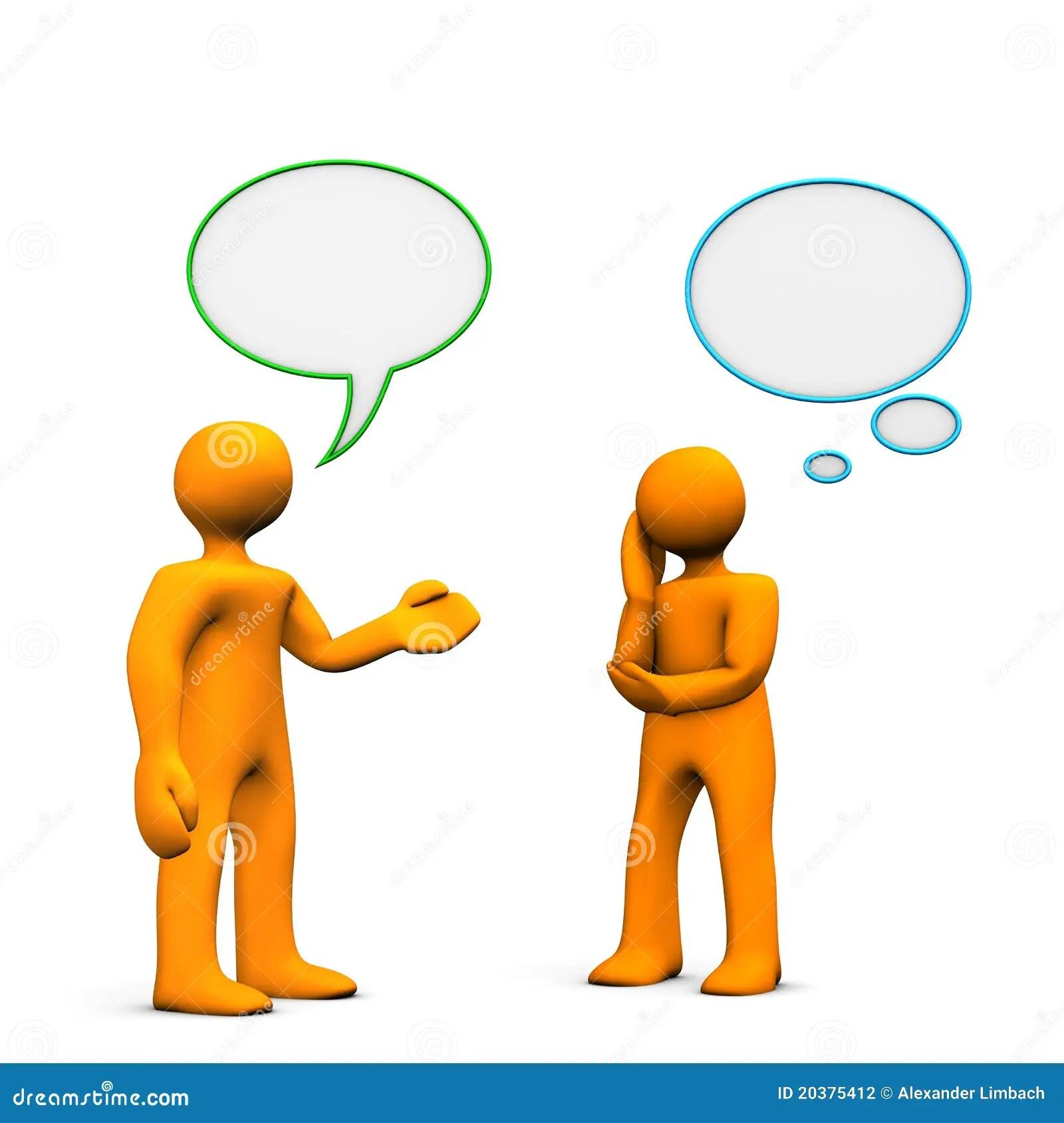 People Communicating Stock Illustration Illustration Of