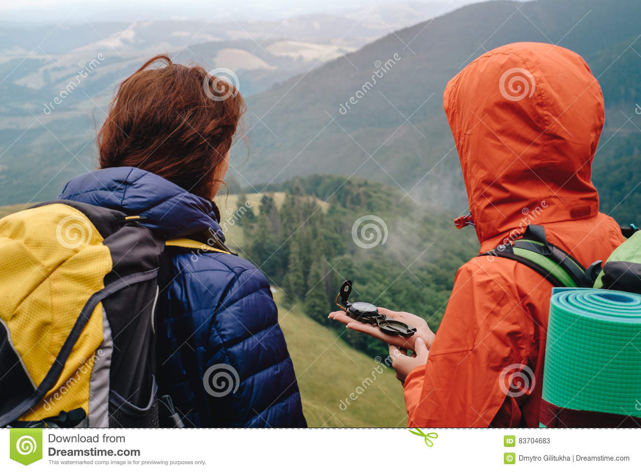 People Using Compass Stock Images