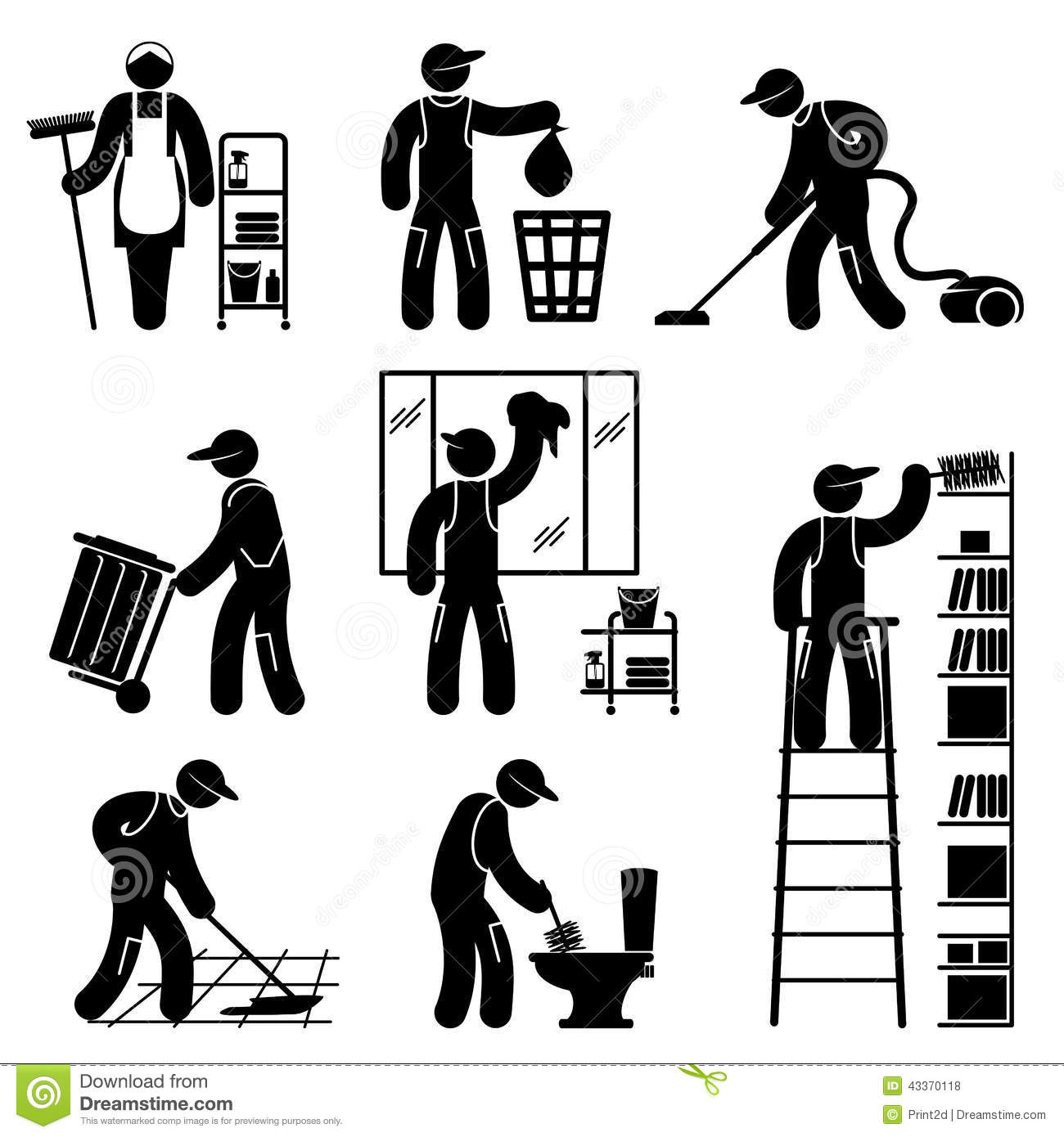 People Cleaning Clip Art