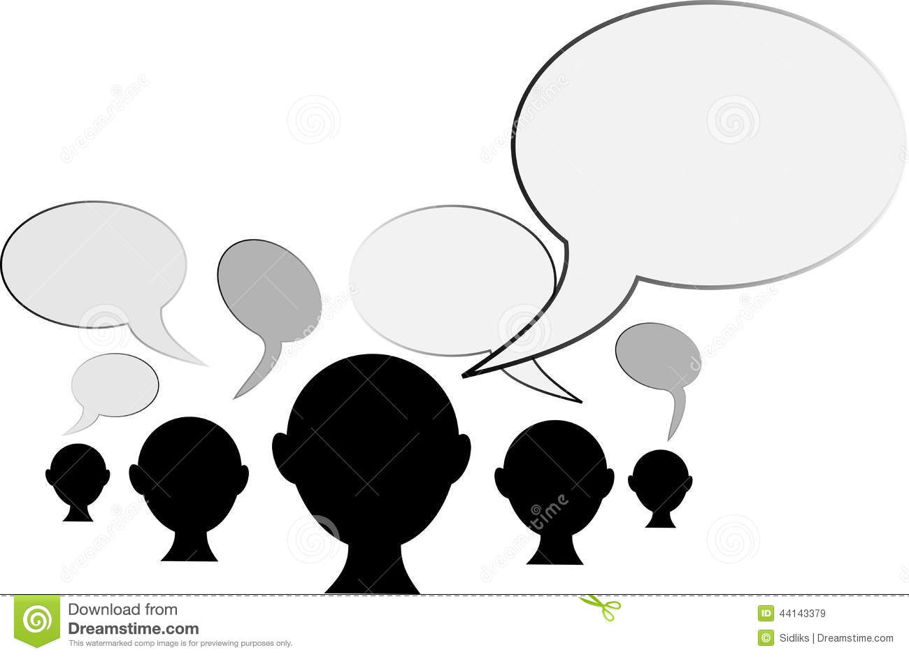 Peoples Opinion Stock Illustration Image Of Modern