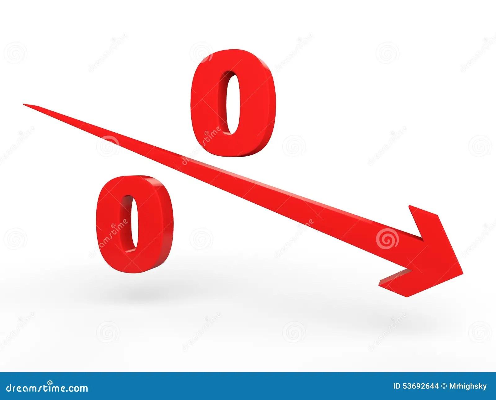 Percentage Decrease Concept Stock Illustration