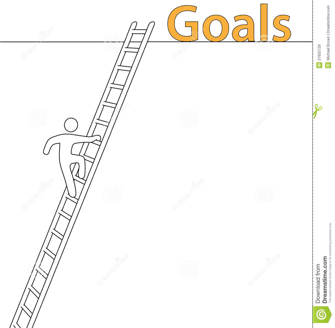 Person Climb Up Ladder Achieve High Goals Royalty Free