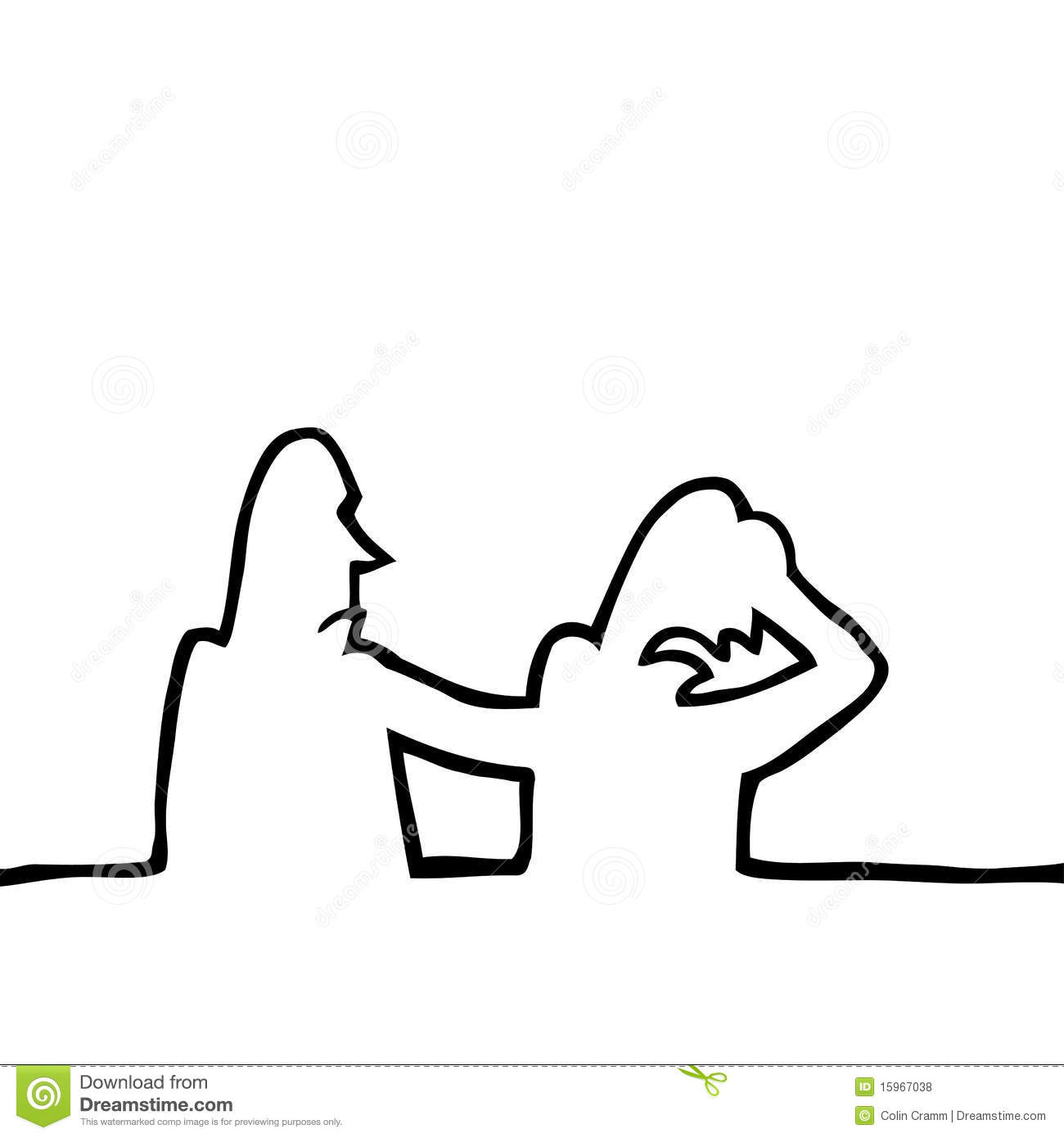 Person Comforting Another Sad Person Royalty Free Stock