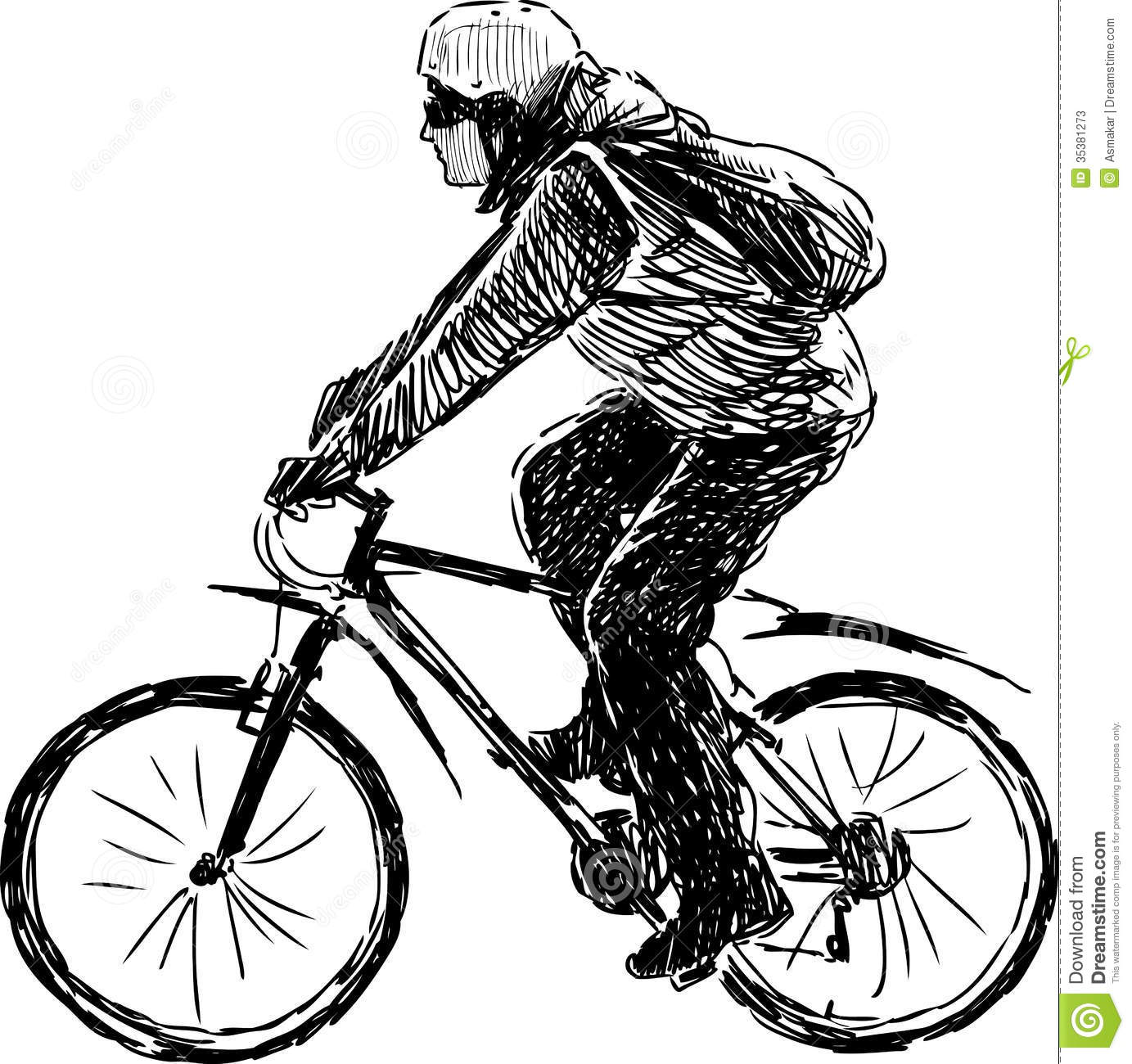 Person Riding A Bike Stock Vector Illustration Of Active