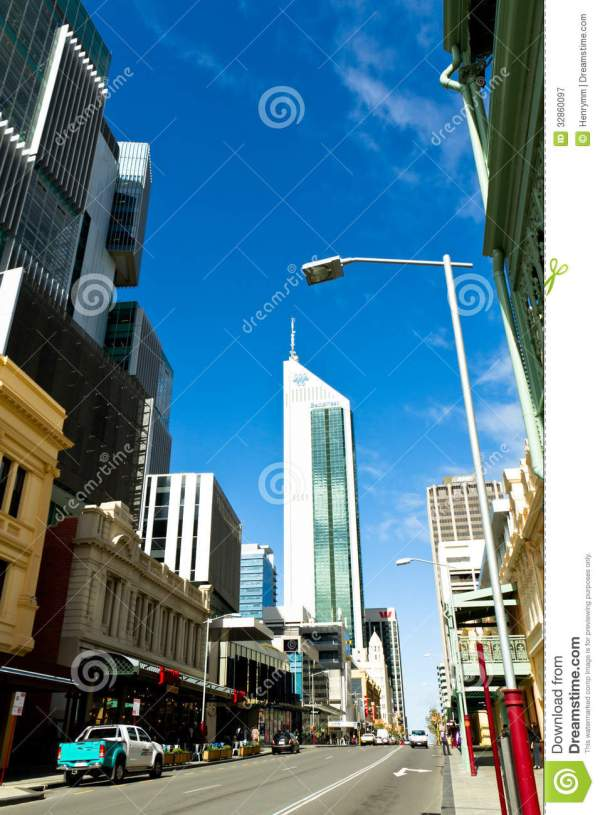 Perth Business District Editorial Photography - Image ...